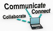 stock photo of collaboration  - Communicate and Collaborate as Business Principles - JPG