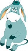 picture of burro  - Cute Donkey isolated on a white background vector - JPG