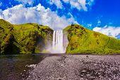 stock photo of waterfalls  -  Iceland - JPG