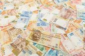 picture of ten thousand dollars  - Background of Hong Kong currency banknotes - JPG