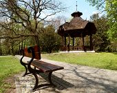 picture of gazebo  - LODZ POLAND - MAY, 08 2015