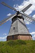 stock photo of windmills  - The windmill Petershagen  - JPG