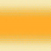picture of spatial  - Orange and yellow 3D perspective halftone vector background - JPG