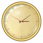 image of analogy  - Analog Clock Isolated on a White Background - JPG