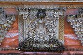 stock photo of hindu  - Fresco Hindu temple complex in Bali indonesia - JPG