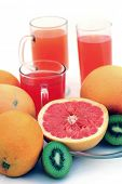 picture of pamelo  - fresh fruits - JPG