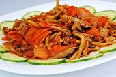 pic of chinese parsley  - delicious chinese food on plate close up - JPG