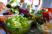 stock photo of buffet catering  - Salad buffet - JPG