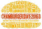 stock photo of hamburger  - Hamburger day 2016 theme  - JPG