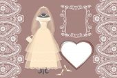 pic of bridal shower  - The composition of females wedding long dress - JPG