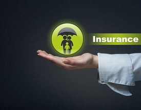 stock photo of life-support  - Business insurance concept - JPG