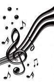 stock photo of musical note  - stylish design of music notes on the white background - JPG