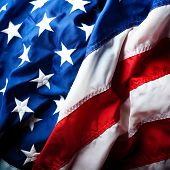pic of usa flag  - flapping flag USA with wave - JPG