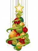 stock photo of xmas tree  - Christmas Tree Design  - JPG