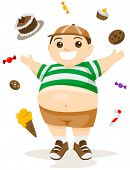 picture of obesity children  - Fatty Foods  - JPG