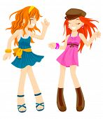 stock photo of pre-teen girl  - Dancing Girls  - JPG