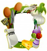 foto of kitchen utensils  - Cooking Frame  - JPG