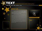 Постер, плакат: Золотые звезды сайта шаблон дизайна вектор