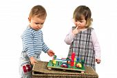 picture of children playing  - one and a half year old children - JPG