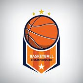 Basketball Championship Logo. Modern Sport Emblem. Vector Illustration poster