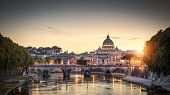 Rome At Sunset Italy poster