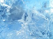 Colorful Ice. Abstract Ice Texture. Nature Background. Arctic Ice. poster