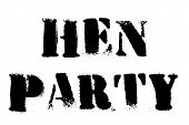 Hen Party Typographic Stamp. Typographic Sign, Badge Or Logo. poster