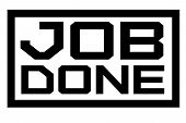 Job Done Typographic Stamp. Typographic Sign, Badge Or Logo. poster