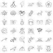 Nature Reliability Icons Set. Outline Set Of 36 Nature Reliability Vector Icons For Web Isolated On  poster