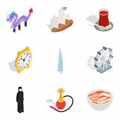 Cultural Variety Icons Set. Isometric Set Of 9 Cultural Variety Vector Icons For Web Isolated On Whi poster