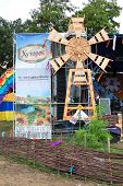 Veliki  Sorochintsi Village, Poltava Region, Ukraine - August 20: Decoration Of The Main Stage With