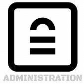 Administration Conceptual Graphic Icon. Design Language Element, Graphic Sign. poster