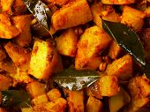 spicy curry potatoes poster