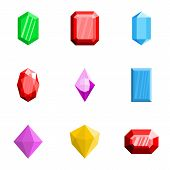 Treasure Icons Set. Flat Set Of 9 Treasure Vector Icons For Web Isolated On White Background poster
