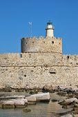 Rhodes Landmark Mandraki Port poster
