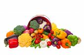 stock photo of farmers market vegetables  - A farmer - JPG