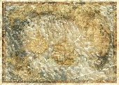 Background With Concept Of Antique Pirate Treasures Map. Pirate Adventures, Treasure Hunt And Old Tr poster