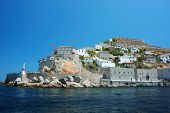 stock photo of hydra  - View of Hydra island  - JPG