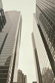 Skyscrapers Glass Facades In San Francisco, California, Usa. poster