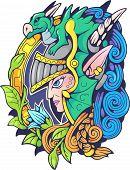 Fantasy Elf In A Helmet, Fantasy Style Illustration poster