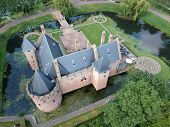 Drone Photo Of Castle Radboud In Medemblik. The Castle Dates From 1288. Medemblik Castle Is One Of T poster