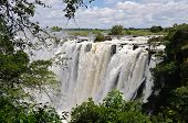 Постер, плакат: Водопад Виктория реки Замбези Африка