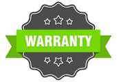 Warranty Isolated Seal. Warranty Green Label. Warranty poster