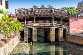 The Japanese Bridge At Hoi An, Ancient City In Central Vietnam And Unesco World Heritage Site poster
