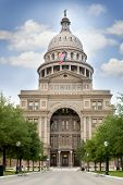 image of capitol building  - capitol building over sky background austin texas usa - JPG