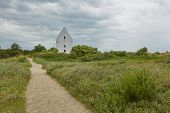 Den Tilsandede Kirke, Also Known As The Buried Church Or The Sand-covered Church Near Skagen Denmark poster