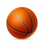 Vector Realistic Basketball Ball For Betting Promo poster