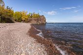 A Lake Superior Scenic Landscape During Autumn. poster