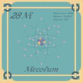Periodic Table Element. Niccolum Colorful Icon. Vector. poster