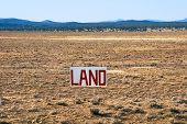stock photo of land development  - A large parcel of Arizona desert for sale - JPG